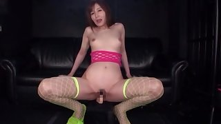 Solo Japanese plays with her pussy in wonderful modes