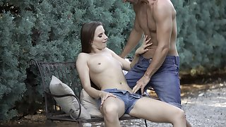 Stella Flex wants to try every posible sex pose with her friend outside