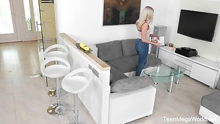 Hidden camera video featuring luring stepdaughter Angelika Grace playing with herself
